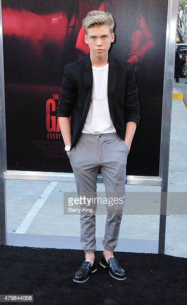 Actor Aidan Alexander attends the Premiere Of New Line Cinema's 'The Gallows' at Hollywood High School on July 7 2015 in Los Angeles California