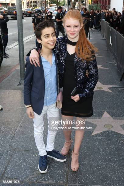 Actor Aidan Gallagher and actress Hannah McCloud are seen on March 26 2017 in Los Angeles California