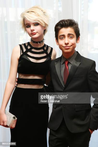 Actor Aidan Gallagher and Parker Hupf attend the 12th Annual Denim Diamonds And Stars at Four Seasons Hotel Westlake Village on October 22 2017 in...