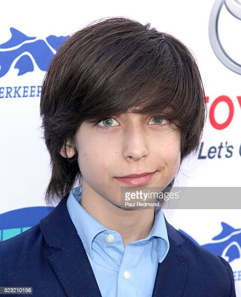Actor Aidan Gallagher arriving at Keep It Clean A Live Comedy Benefit For Waterkeeper Alliance at Avalon on April 21 2016 in Hollywood California