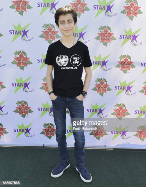 Actor Aidan Gallagher attends 17th Annual Children's Earth Day Extravaganza at Star Eco Station on April 2 2017 in Culver City California