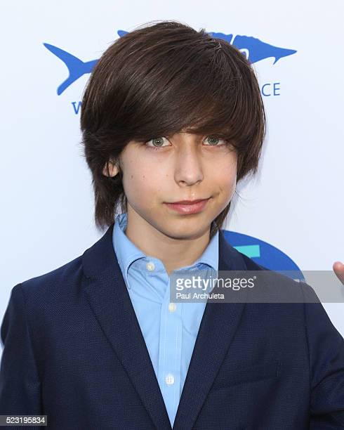Actor Aidan Gallagher attends 'Keep It Clean' a live comedy benefit for the Waterkeeper Alliance at Avalon on April 21 2016 in Hollywood California