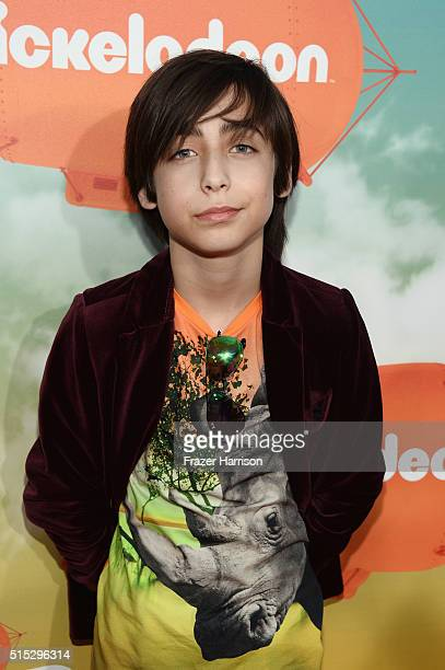 Actor Aidan Gallagher attends Nickelodeon's 2016 Kids' Choice Awards at The Forum on March 12 2016 in Inglewood California