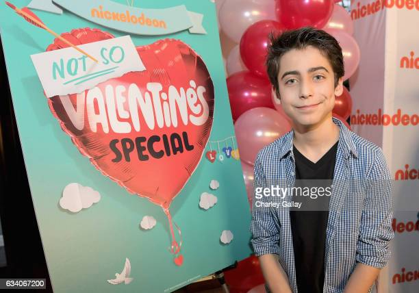 Actor Aidan Gallagher attends Nickelodeon's Not So Valentine's Special on February 6 2017 in Los Angeles California