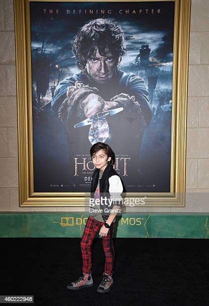 Actor Aidan Gallagher attends 'The Hobbit The Battle Of The Five Armies' Los Angeles Premiere at Dolby Theatre on December 9 2014 in Hollywood...