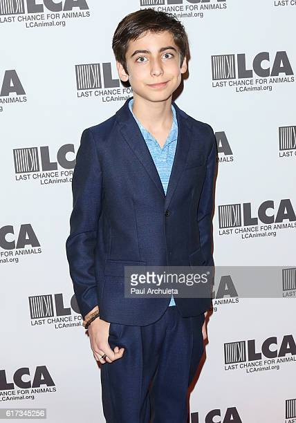 Actor Aidan Gallagher attends the Last Chance For Animals' Annual Gala at The Beverly Hilton Hotel on October 22 2016 in Beverly Hills California