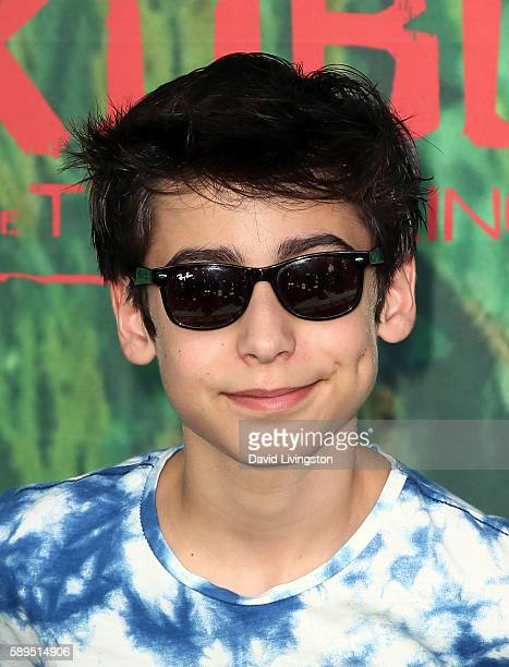 Actor Aidan Gallagher attends the premiere of Focus Features' 'Kubo and the Two Strings' at AMC Universal City Walk on August 14 2016 in Universal...