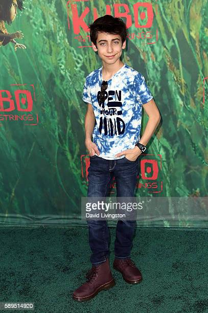 Actor Aidan Gallagher attends the premiere of Focus Features' Kubo and the Two Strings at AMC Universal City Walk on August 14 2016 in Universal City...