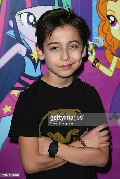 Actor Aidan Gallagher attends the premiere of Hasbro Studios' 'My Little Pony Equestria Girls Rainbow Rocks' at the TCL Chinese 6 Theatres on...