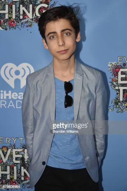 Actor Aidan Gallagher attends the premiere of Warner Bros Pictures' 'Everything Everything' at TCL Chinese Theatre on May 6 2017 in Hollywood...