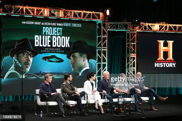 Actor Aidan Gillen actor Michael Malarkey actress Laura Mennell actor Neal McDonough David O'Leary and Sean Jablonski of the television show Blue...
