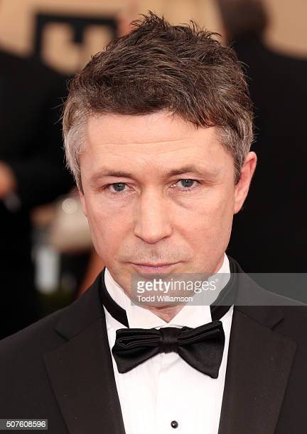 Actor Aidan Gillen attends the 22nd Annual Screen Actors Guild Awards at The Shrine Auditorium on January 30 2016 in Los Angeles California