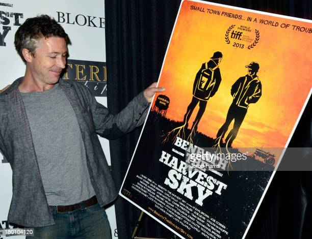 Actor Aidan Gillen attends the 'Beneath The Harvest Sky' cast party sponsored by TERRA during the 2013 Toronto International Film Festival on...