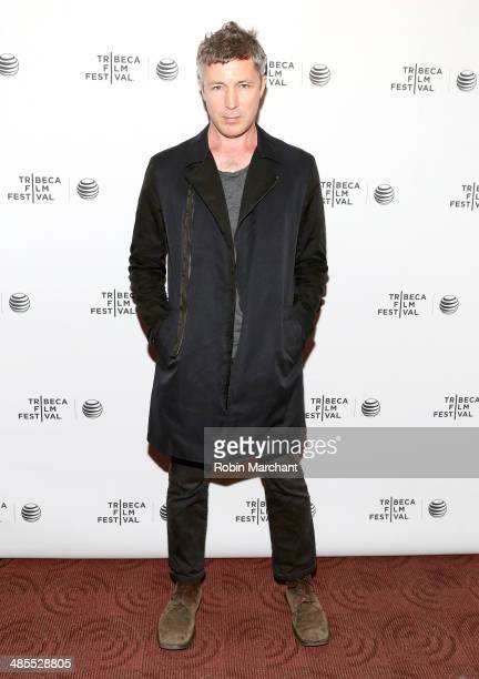 Actor Aidan Gillen attends the Beneath the Harvest Sky Premiere during the 2014 Tribeca Film Festival at Chelsea Bow Tie Cinemas on April 18 2014 in...