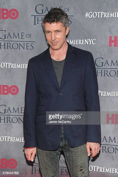 Actor Aidan Gillen attends the Game Of Thrones Season 4 New York premiere at Avery Fisher Hall Lincoln Center on March 18 2014 in New York City