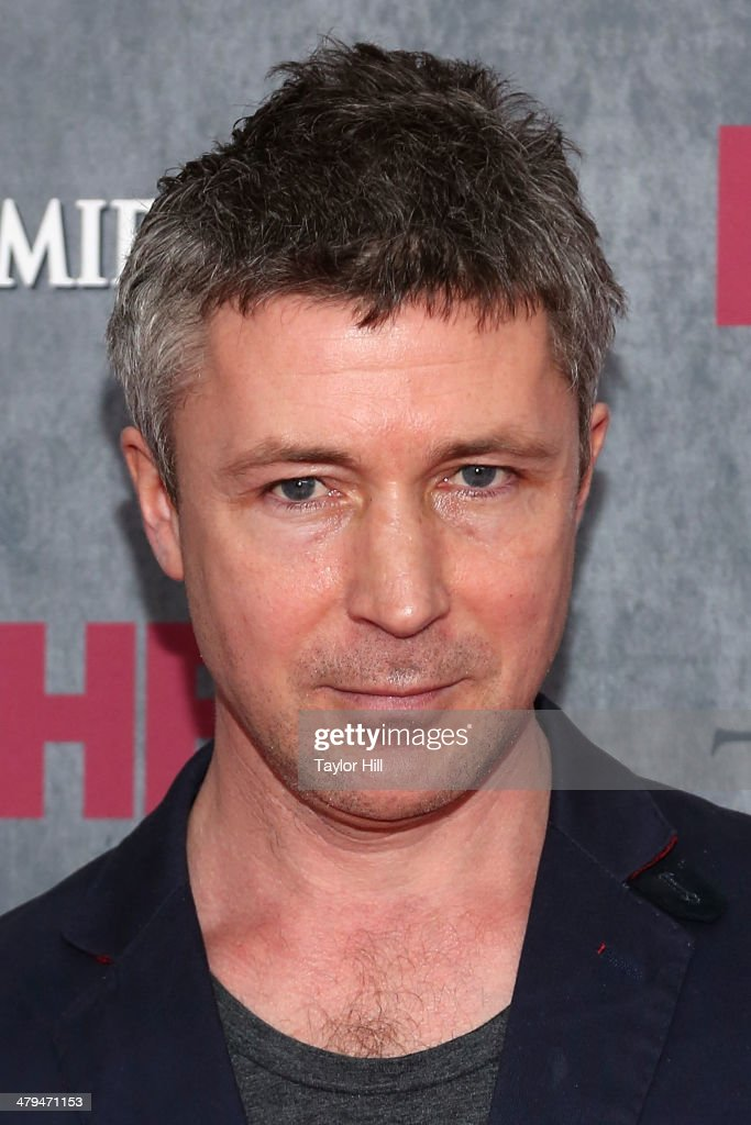 Actor Aidan Gillen attends the 'Game Of Thrones' Season 4 premiere at Avery Fisher Hall, Lincoln Center on March 18, 2014 in New York City.