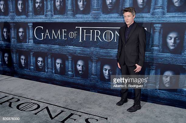 Actor Aidan Gillen attends the premiere of HBO's 'Game Of Thrones' Season 6 at TCL Chinese Theatre on April 10 2016 in Hollywood California