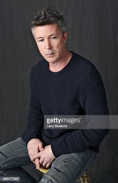 Actor Aidan Gillen from 'Beneath the Harvest Sky' poses for a portrait at the 2014 Tribeca Film Festival Getty Images Studio on April 18 2014 in New...