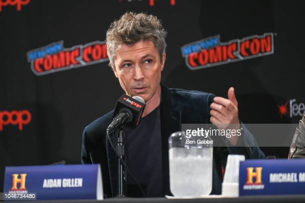 Actor Aidan Gillen speaks during HISTORYs Project Blue Book NYCC Panel 2018 at the Jacob Javits Convention Center on October 6 2018 in New York City