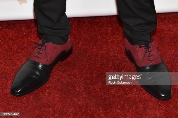 Actor Aidan J Alexander shoe detail attends the premiere of The Orchard and Fine Brothers Entertainment's F*% The Prom at ArcLight Hollywood on...