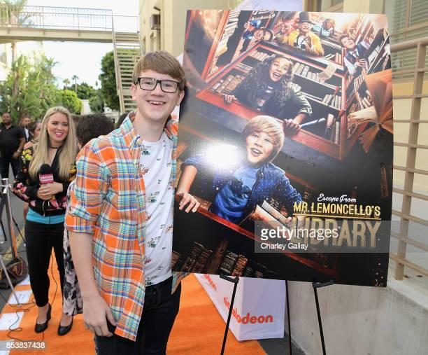Actor Aidan Miner at Nickelodeon's 'Escape From Mr Lemoncello's Library' premiere event at Paramount Studios on September 25 2017 in Hollywood...