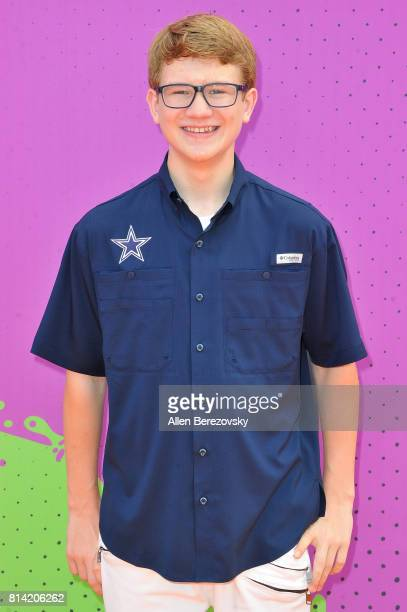 Actor Aidan Miner attends Nickelodeon Kids' Choice Sports Awards 2017 at Pauley Pavilion on July 13 2017 in Los Angeles California