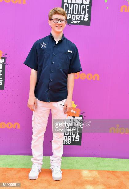 Actor Aidan Miner attends the Nickelodeon Kids' Choice Sports Awards 2017 at Pauley Pavilion on July 13 2017 in Los Angeles California