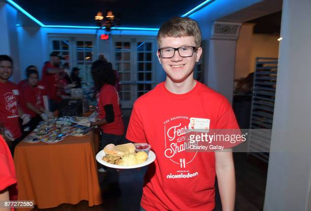 Actor Aidan Miner attends The Salvation Army Feast of Sharing presented by Nickelodeon at Casa Vertigo on November 21 2017 in Los Angeles California