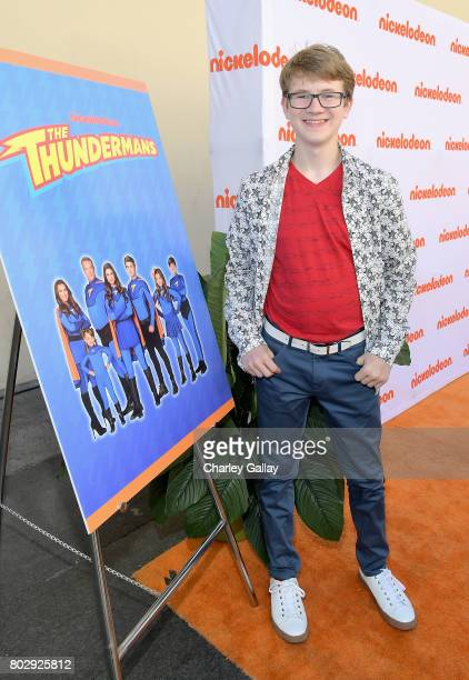 Actor Aidan Miner celebrates the 100th episode of Nickelodeon's The Thundermans at Paramount Studios on June 28 2017 in Hollywood California