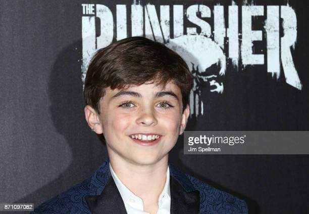 Actor Aidan Pierce Brennan attend the 'Marvel's The Punisher' New York premiere at AMC Loews 34th Street 14 theater on November 6 2017 in New York...