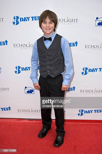 Actor Aidan Potter attends the Los Angeles Premiere of '3 Day Test' at Downtown Independent Theatre on December 8 2012 in Los Angeles California