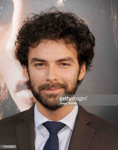"""Actor Aidan Turner arrives at the Los Angeles premiere of """"The Mortal Instruments: City Of Bones"""" at ArcLight Cinemas Cinerama Dome on August 12,..."""