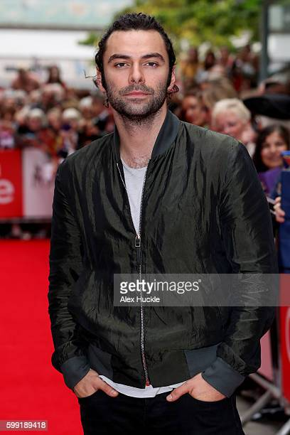Actor Aidan Turner attends a preview screening for series two of BBC drama 'Poldark' at the White River Cinema on September 4 2016 in St Austell...