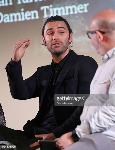 Actor Aidan Turner in a question and answer session after a screening of Poldark Series 2 at the BFI on August 22 2016 in London England
