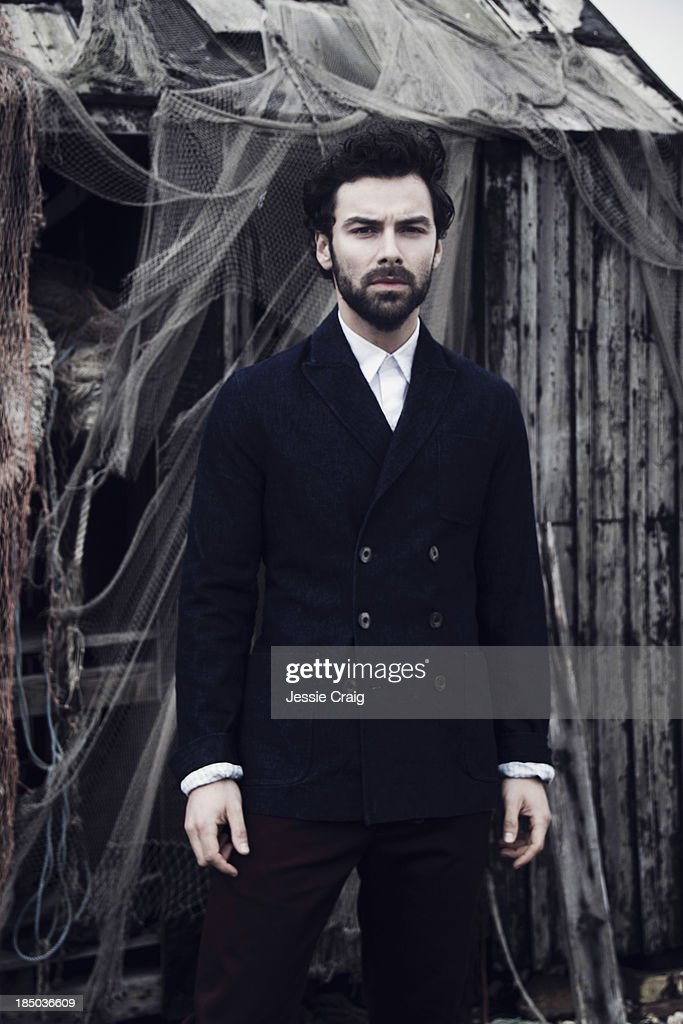 Actor Aidan Turner is photographed for Article magazine on August 7, 2013 in Romney Marsh, England.