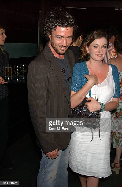 Actor Aiden Gillen and wife Olivia O'Flanagan attend the after show party following the opening night of the new West End production at Wyndham's...