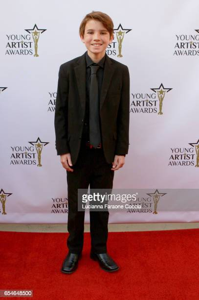Actor Aiden Lovekamp attends the 38th Annual Young Artists Awards at Alex Theatre on March 17 2017 in Glendale California