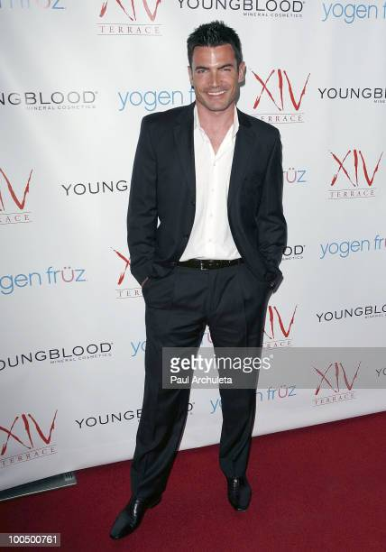 Actor Aiden Turner arrives for Edyta Sliwinska birthday celebration at Michael Minas XIV Restaurant on May 24 2010 in Los Angeles California