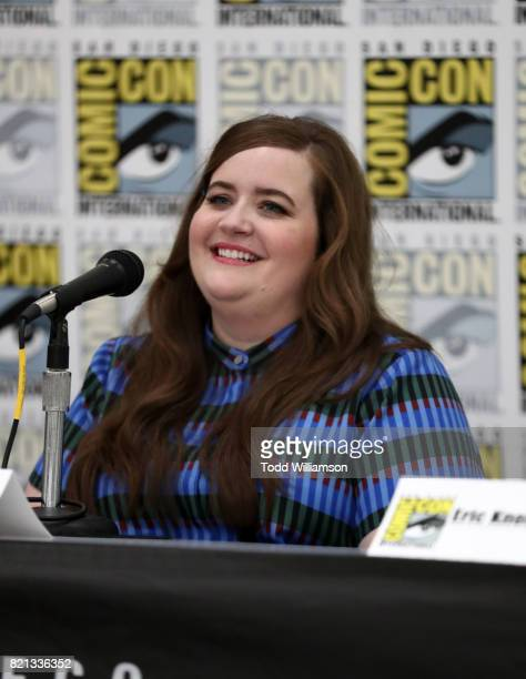 Actor Aidy Bryant attends Amazon's 'Danger Eggs' panel at San Diego ComicCon International 2017 at the San Diego Convention Center on July 23 2017 in...