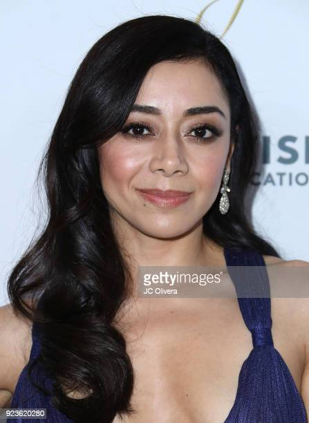 Actor Aimee Garcia attends the 21th Annual National Hispanic Media Coalition Impact Awards Gala at Regent Beverly Wilshire Hotel on February 23 2018...