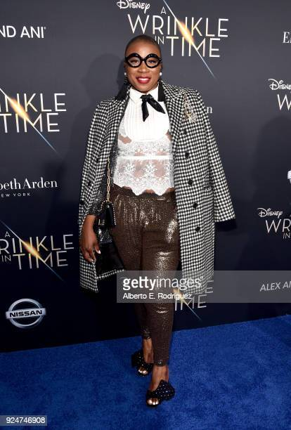 Actor Aisha Hinds arrives at the world premiere of Disney's 'A Wrinkle in Time' at the El Capitan Theatre in Hollywood CA Feburary 26 2018