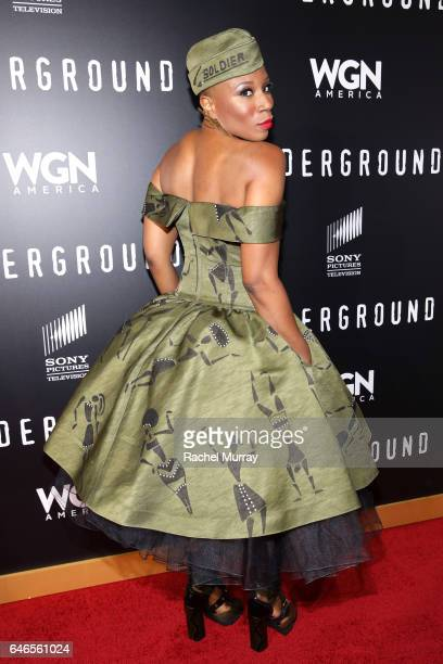 Actor Aisha Hinds attends WGN America's Underground Season Two Premiere Screening at Regency Village Theatre on March 1 2017 in Westwood California