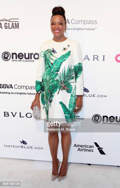 Actor Aisha Tyler attends the 25th Annual Elton John AIDS Foundation's Academy Awards Viewing Party at The City of West Hollywood Park on February 26...