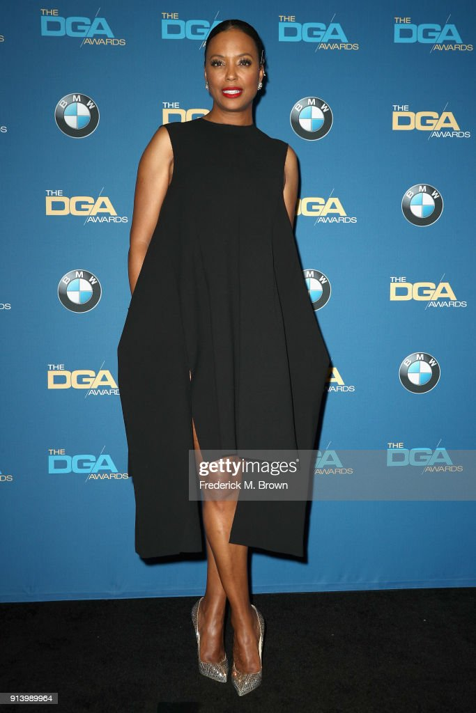 Actor Aisha Tyler poses in the press room during the 70th Annual Directors Guild Of America Awards at The Beverly Hilton Hotel on February 3, 2018 in Beverly Hills, California.