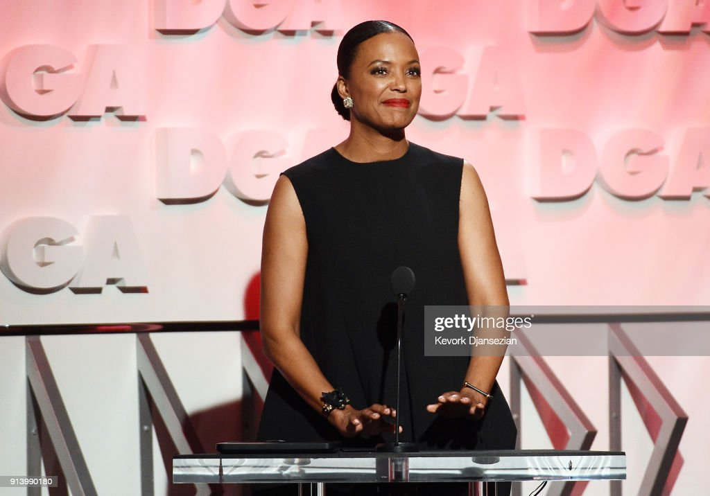 Actor Aisha Tyler speaks onstage during the 70th Annual Directors Guild Of America Awards at The Beverly Hilton Hotel on February 3, 2018 in Beverly Hills, California.