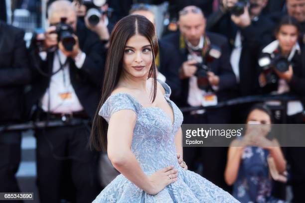 Actor Aishwarya Rai attends the 'Okja' screening during the 70th annual Cannes Film Festival at Palais des Festivals on May 19 2017 in Cannes France