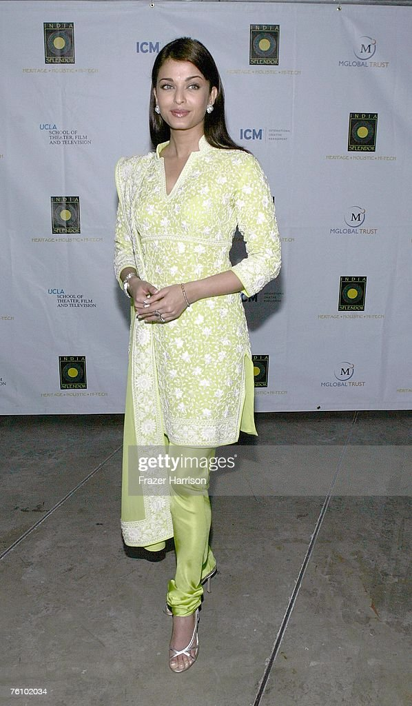 Actor Aishwarya Rai attends the screening Of `Guru` as part Of `India Splendor` film festival presented by Mglobal Trust in association with UCLA...