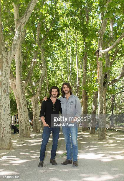 Actor Aitor Luna and actor Yon Gonzalez attend 'Matar el tiempo' presentation at Espana Square on May 27, 2015 in Madrid, Spain.