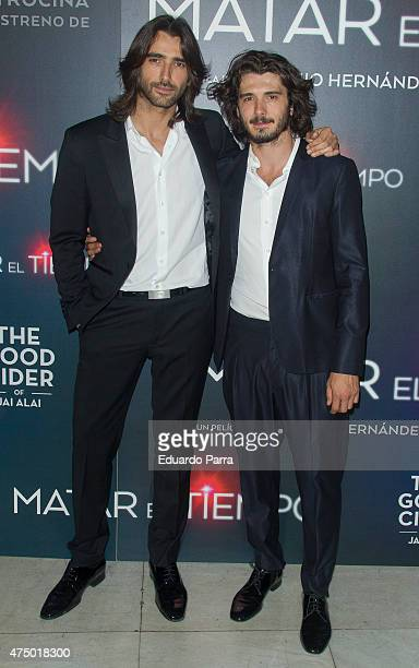 Actor Aitor Luna and actor Yon Gonzalez attend 'Matar el tiempo' premiere at Capitol cinema on May 28 2015 in Madrid Spain