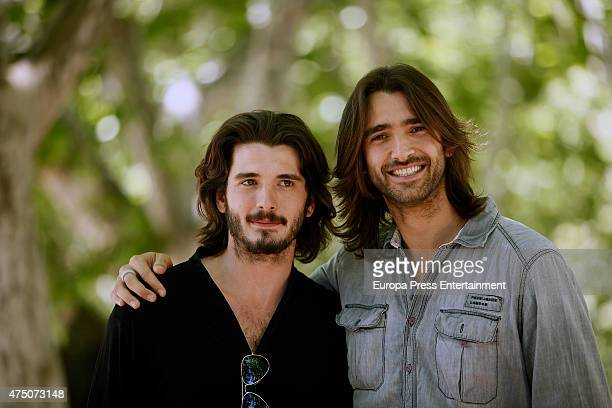 Actor Aitor Luna and his brother Yon Gonzalez attend 'Matar El Tiempo' presentation on May 27 2015 in Madrid Spain